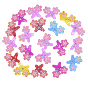 Snowsun-Mini Flowers Small Fine Hair Clips Colour Assorted Snap Barrettes Baby Accessories Infant Toddler Girl