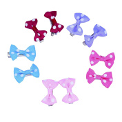 Snowsun-Mini Bow bowknot Small Fine Hair Clips Colour Assorted Snap Barrettes Baby Accessories Infant Toddler Girl