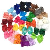 25pcs 13cm Grosgrain Ribbon Boutique Hair Bows for Children Hair Accessories