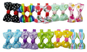 Beautiful Set of 2 Bow Hair Grips Clips For Women Girls Baby Toddler