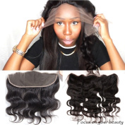 100% Brazilian Virgin Human Hair 33cm x 10cm Lace Frontal Closure Free Part Body Wave, 1, 12