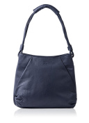 Large luxury Textured Leather Shoulder Bag in Navy ladies fashion handbag