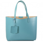 REBELLE FTC Shopper Turquoise / Nude genuine leather made in Italy