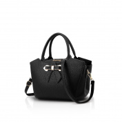 Nicole & Doris New Women/ladies Fashion Handbag Messenger Crossbody Shoulder Purse Tote Bow-Knot Bag black
