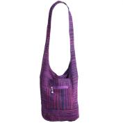 HIPPIE FESTIVAL HOBO SLING SHOULDER BAG SOFT COTTON CHENILLE STYLE