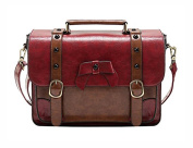 Whoinshop Women Vintage Bags Synthetic Leather Retro Satchel Messenger Crossbody Handbags
