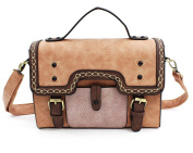 Whoinshop Women Vintage Faux Leather Retro Satchel Messenger Crossbody Handbags