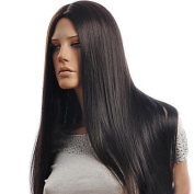 Capless Black Colour Long Length High Quality Black Natural Straight Hair Synthetic Wig