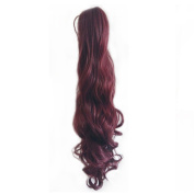 Elenxs Charming Long Curly Hair Piece Clip in Claw Ponytail Extension for Women Girls 118