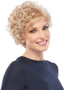 European and American women white pale gold fashion short curly hot temperament high-grade matte silk synthetic wig for ladies wigs