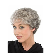 European and American popular puffy silver-grey short hair wig synthetic high temperature wire temperament mother rose intranet premium wig
