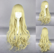 Women's Wig Cosplay Wig Blonde Wavy With Straight Pony 75 cm