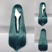 Women's Wig Cosplay Wig Dark Green Straight with Ponytail 70 cm
