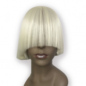 Namecute Short Wig Bleach Blonde Wigs Hidden Eyes Style for women
