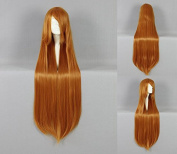 Women's Wig Cosplay Wig 100 cm Long Straight Light Brown with Pony