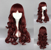 Women's Wig Cosplay Wig Curly with Straight Pony 60 cm Red