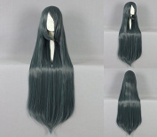Women's Wig Cosplay Wig 100 cm Long Straight Green with Pony