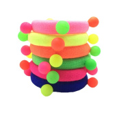 Da.Wa 10pcs Cute Candy Coloured Fluorescence Band Hair Band Accessories Elastic Hair Ornaments