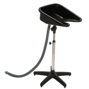 Hairdressers Portable Tilting Black Backwash Stand