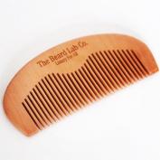 Wooden Hair And Beard Comb By The Beard Lab Co. Ideal For Applying Beard Balm And Beard Oil - Non Static - Pocket Size, Keep Your Beard Tangle Free - For The Complete Experience Use With The Beard Lab Co. Beard Oil - Perfect Gift For Men - Christmas Gi ..