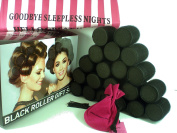 Sleep-In Rollers 20 Black Hair Rollers Gift Set