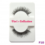 Vivi's Collection F10 Finest Eyelashes Black False Fake Eye Lashes