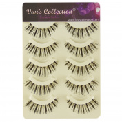 Vivi's Collection 5 Pairs F6 Finest Eyelashes Black False Fake Eye Lashes