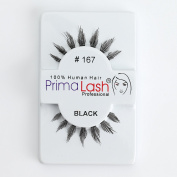 100% Human Hair False Lashes by PrimaLash Professional STYLE #167 Handmade Strip Lashes