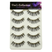 Vivi's Collection 5 Pairs S5 Natural Eyelashes Black False Eye Lashes