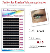 labeaute Russian XD Volume Lashes Individual Eyelash Extensions 0.10/C-curl