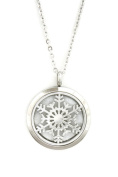 Let It Snow Snowflake 316L Stainless Steel Essential Oil Aromatherapy Diffuser Necklace- 60cm