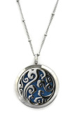 Swirl Elegant Filigree 316L Stainless Steel Essential Oil Diffuser Necklace- 50cm