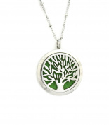 Family Tree of Life 316L Stainless Steel Essential Oil Diffuser Necklace- Long 80cm
