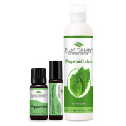 Peppermint Set. 100% Pure, Undiluted, Therapeutic Grade Essential Oils.