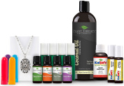 KidSafe Popular Products Package with Antique Silver Pendant. 100% Pure, Undiluted, Therapeutic Grade Essential Oils.