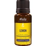 Lemon 100% Pure Therapeutic Grade Essential Oil by Viola Essentials - 15ml