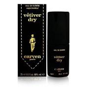 Vetiver Dry By Carven for Men Eau De Toilette spray 5/6 Oz. / 25 ML. Rare by Carven
