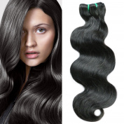 The top quality 10A 3 Bundles Brazilian body wave human Natural Back Colour hair 25cm - 60cm any choose . 36cm 41cm 46cm )