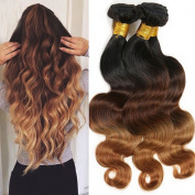 Deluxe 100% Unprocessed Virgin Remy Human Hair Extensions Ombre