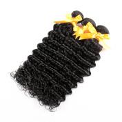 Yavida Unprocessed Brazilian Deep Wave Virgin Hair 3 Bundles Remy Brazilian Human Hair Extensions