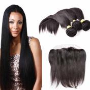 WeLOVE HAIR Lace Frontal with bundles Lace Closure Human Hair Ear to Ear 50cm 8A Virgin Hair bundle Deals Straight Weave 300g Peruvian Hair 3 bundles 24 26 70cm