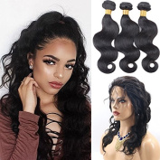 Foxys' Hair 360 Lace Frontal Closure With Bundles Natural Hairline 7A Grade Brazilian Virgin Human Hair Body Wave Weave with Frontal Closure
