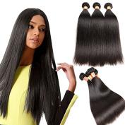 Moxika Hair 3 Bundles 8A Peruvian Remy Human Hair Straight Extension