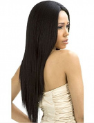 [New Born Free 360 Weft Human Hair Weave] BRAZILIAN KNOT WEFT UNPROCESSED YAKI Straight 46cm