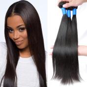 Superlove Brazilian Virgin Hair Straight 3 Bundles Human Hair Bundles 100g/Bundle Natural Colour
