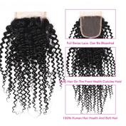 Flady Hair Free Part Peruvian Curly Hair Closure 100% Unprocessed Virgin Peruvian Human Hair Closure 7A Grade Natural Colour