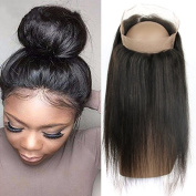 QTHAIR Pre Plucked 360 Lace Band Frontal Closures Brazilian Straight Virgin Human Hair 360 lace frontal Closures with Natural Hairline Baby Hair