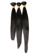 Hot Queen 100% Remy Brazilian Hair Straight Human Hair Weave Extensions 3Bundles 30cm 100g Per Bundle Natural Black Colour Unprocessed Hair