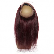 V'Nice Free Part 360 Full Lace Frontals with Baby Hair Natural Black Kinky Straight Brazilian Virgin Hair