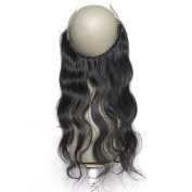 V'Nice Body Wave Free Part 360 Full Lace Frontals with Baby Hair Natural Black Brazilian Virgin Hair
